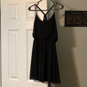 Black razor back dress!